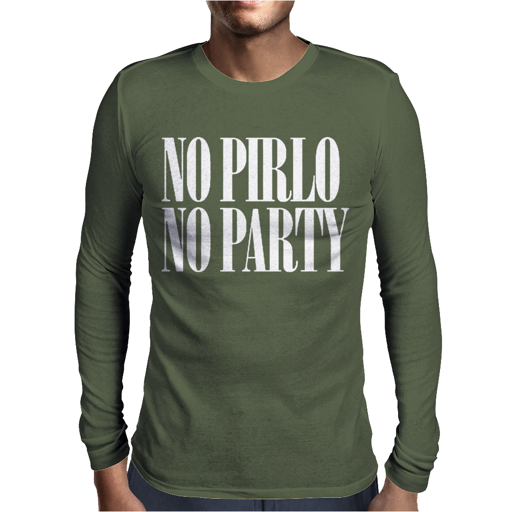 Pirlo Party No Mens Long Sleeve T-Shirt