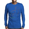 Pit Bull art Mens Long Sleeve T-Shirt