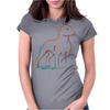 Pit Bull art Womens Fitted T-Shirt
