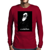Pixel Portrait of Darwin Mens Long Sleeve T-Shirt