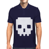 Pixel Skull 8 Bit Era Mens Polo