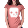 Pixel Skull 8 Bit Era Womens Fitted T-Shirt