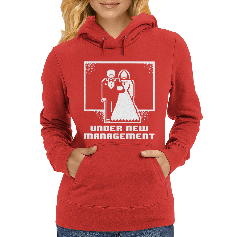 Pixel Wedding Under New Management Womens Hoodie