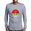 Pixelated Pikachu Mens Long Sleeve T-Shirt
