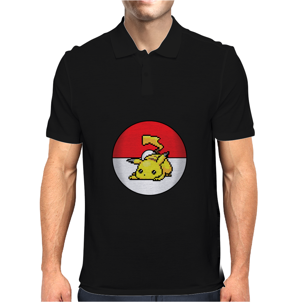 Pixelated Pikachu Mens Polo