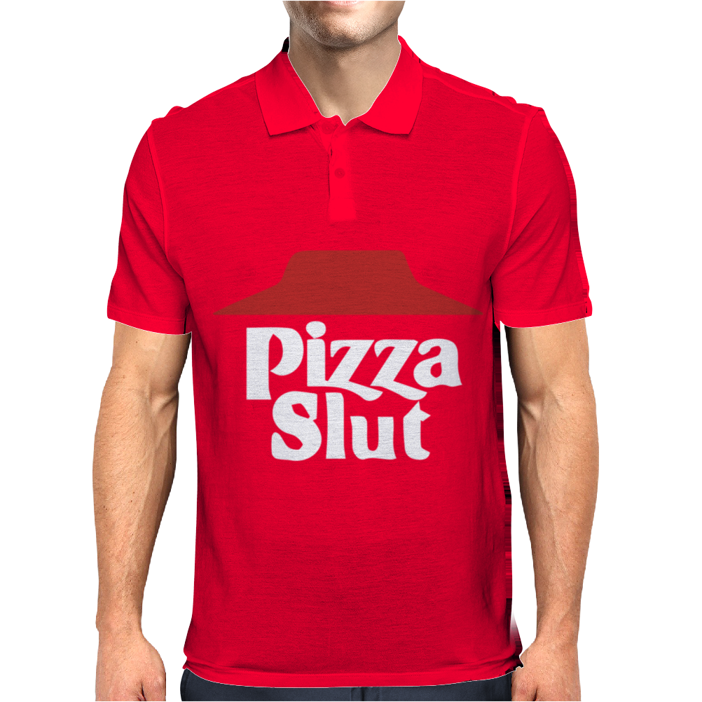 Pizza funny Mens Polo