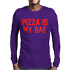 PIZZA IS MY BAE RINGER Mens Long Sleeve T-Shirt
