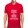 pizza weed boys with tattoos Mens Polo