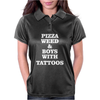 pizza weed boys with tattoos Womens Polo