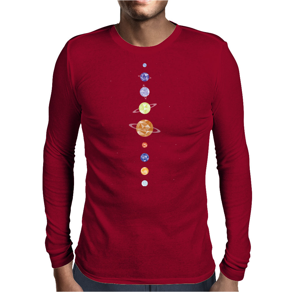 Planets Mens Long Sleeve T-Shirt