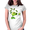 Plant VS Zombies Garden Ware Fare Peashooter Pew Pew Pew Womens Fitted T-Shirt