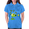 Plant VS Zombies Garden Ware Fare Peashooter Pew Pew Pew Womens Polo