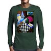 PLAYING  CHESS AT BAR Mens Long Sleeve T-Shirt