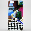 PLAYING  CHESS AT BAR Phone Case