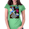 PLAYING  CHESS AT BAR Womens Fitted T-Shirt