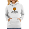 Playing Dead works great if you encounter a Bear .......Doesn't do shit if you encounter your Wife! Womens Hoodie