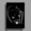 Playing Football Poster Print (Portrait)