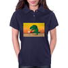Playing with T-Rex Womens Polo