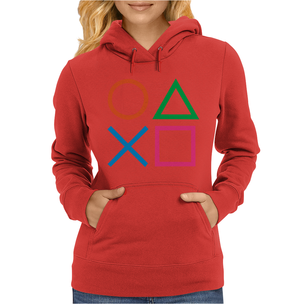 PLAYSTATION CONTROLLER PS2 PS3 Womens Hoodie