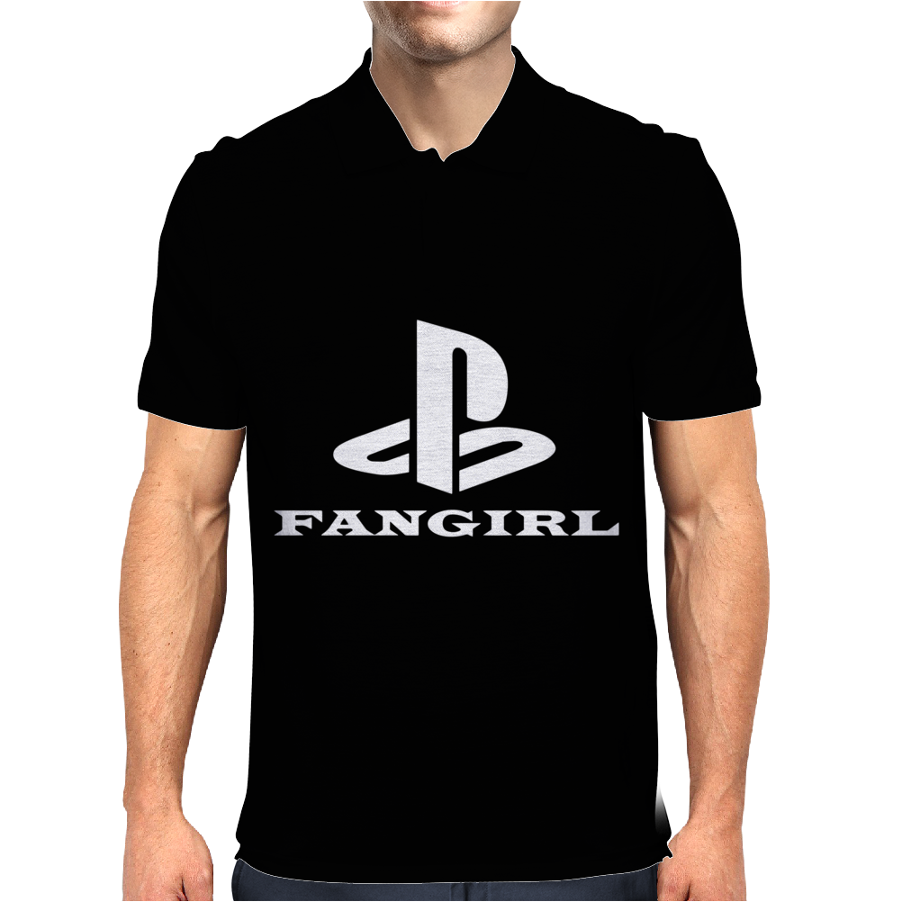Playstation Inspired FAN Mens Polo