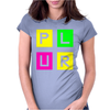 Plur Neon Edc Edm Music House Electro Womens Fitted T-Shirt