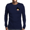 Pocket Saiyan Mens Long Sleeve T-Shirt