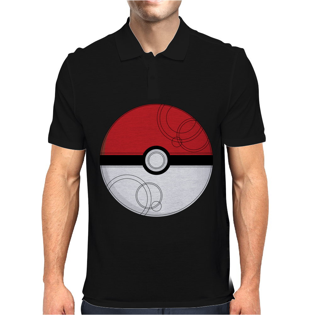 Pokeball Mens Polo
