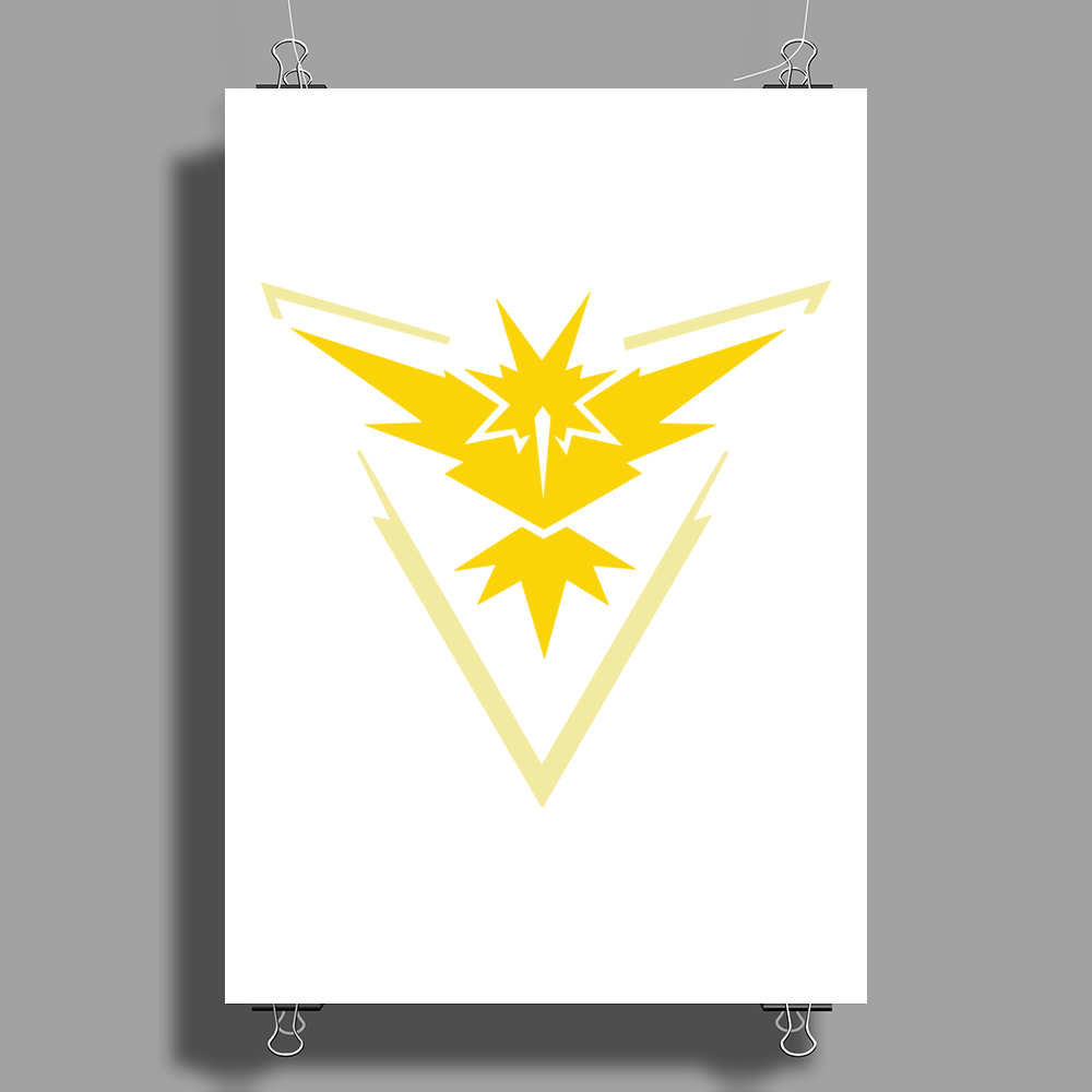 Pokemon Go Team Instinct Poster Print (Portrait)
