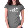 Poker ~ Fish To Shark Evolution ~ Mens Funny Poker Womens Fitted T-Shirt
