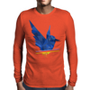 Polygon Bird Mens Long Sleeve T-Shirt
