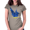 Polygon Bird Womens Fitted T-Shirt