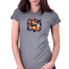 Polygonal Abstract Design Womens Fitted T-Shirt