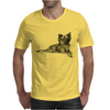 Pomeranian Dog Breed Illustration Mens T-Shirt