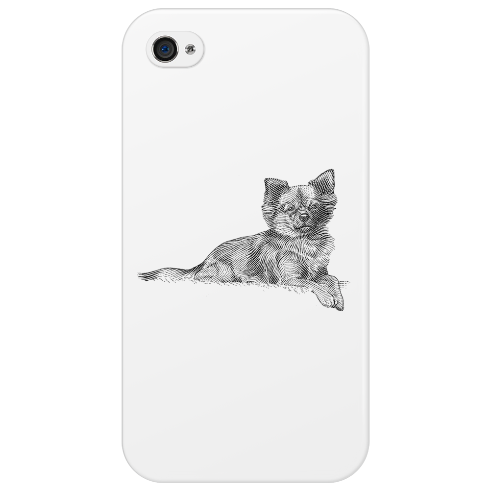 Pomeranian Dog Breed Illustration Phone Case
