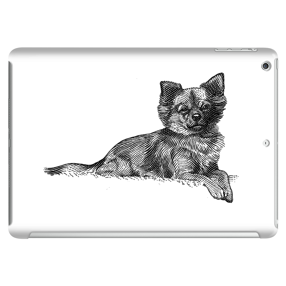 Pomeranian Dog Breed Illustration Tablet