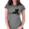 Pomeranian Dog Breed Illustration Womens Fitted T-Shirt