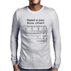 poo flow chart Mens Long Sleeve T-Shirt