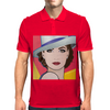 Pop Art Girl Ingrid 1 Mens Polo