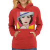 Pop Art Girl Ingrid 1 Womens Hoodie