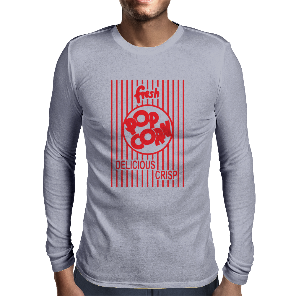 Popcorn Mens Long Sleeve T-Shirt
