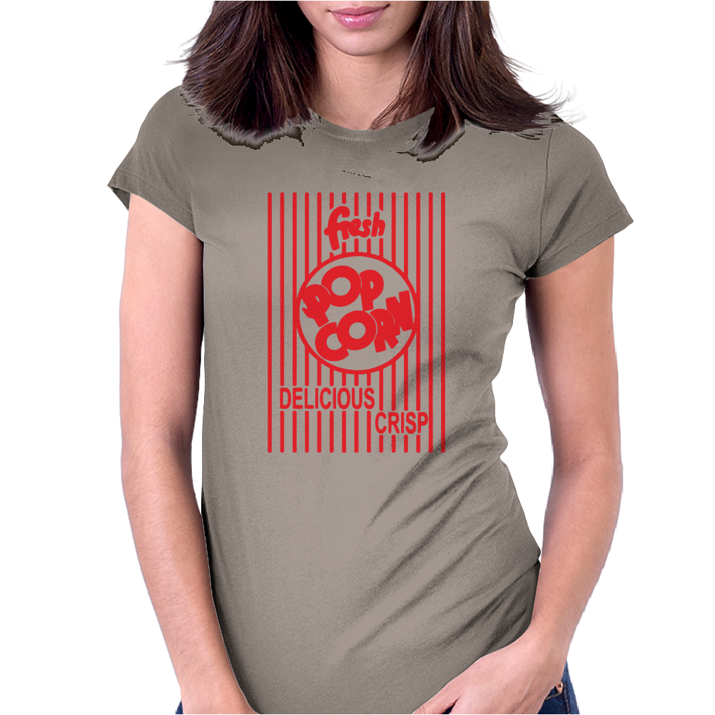 Popcorn Womens Fitted T-Shirt