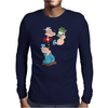Popeye Spinach Retro Mens Funny Mens Long Sleeve T-Shirt