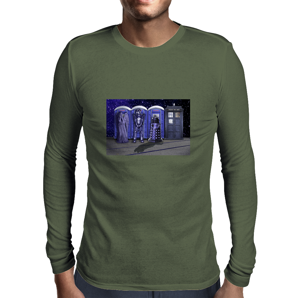 Port-a-TARDIS? Mens Long Sleeve T-Shirt