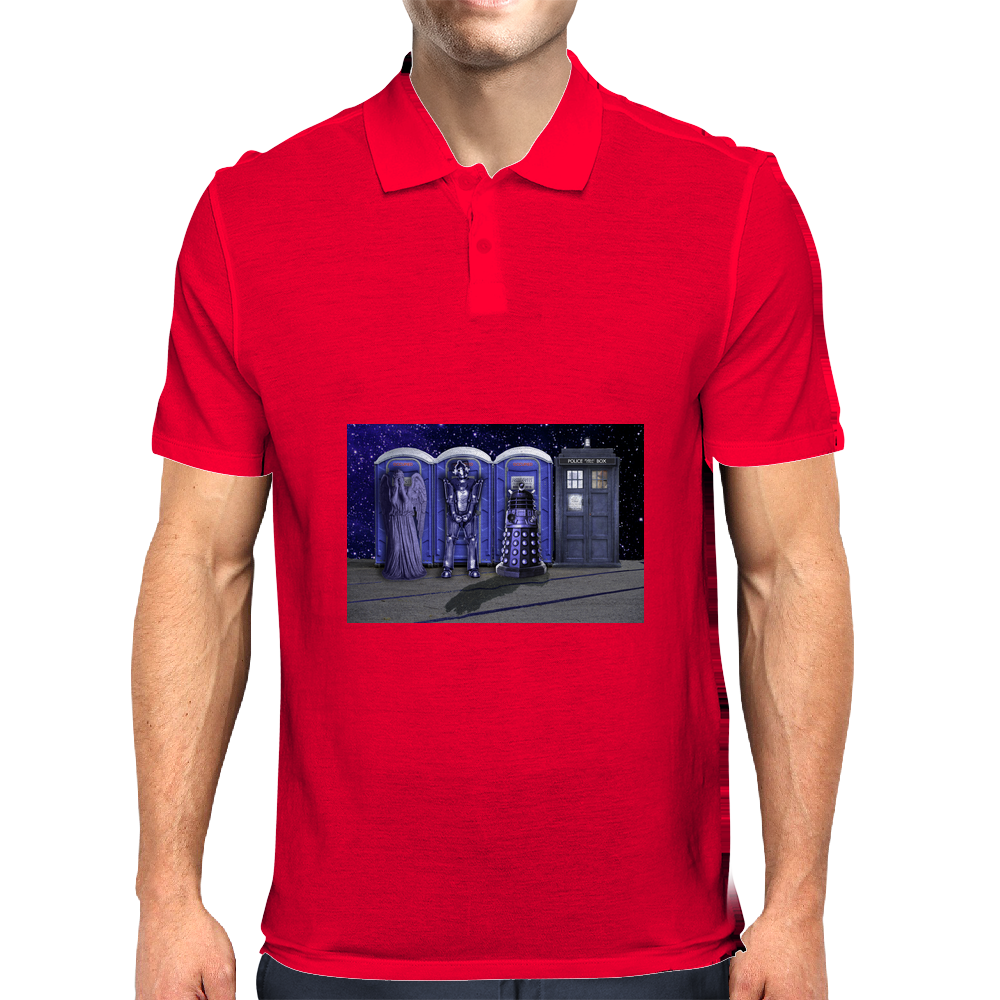 Port-a-TARDIS? Mens Polo