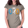 Portal Bathroom Parody Video Game Womens Fitted T-Shirt