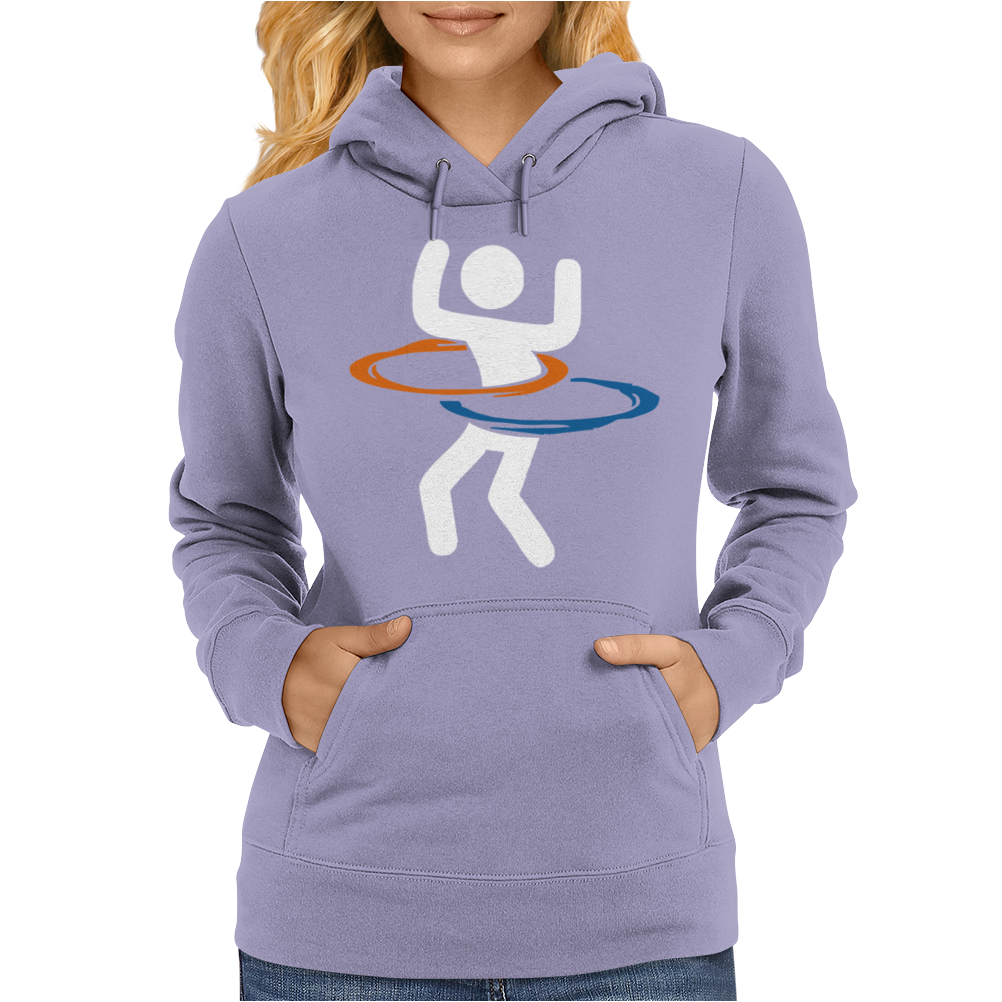 Portal Hula Hooping With Portals Womens Hoodie