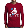 Portal true love - Aperture lab video gamer teleport online pc goal tee Mens Long Sleeve T-Shirt