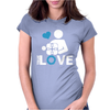 Portal true love - Aperture lab video gamer teleport online pc goal tee Womens Fitted T-Shirt