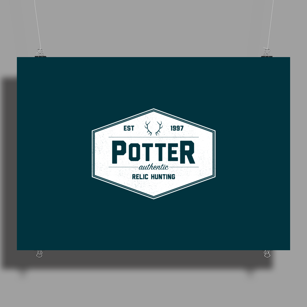 Potter Authentic Relic Hunting Poster Print (Landscape)
