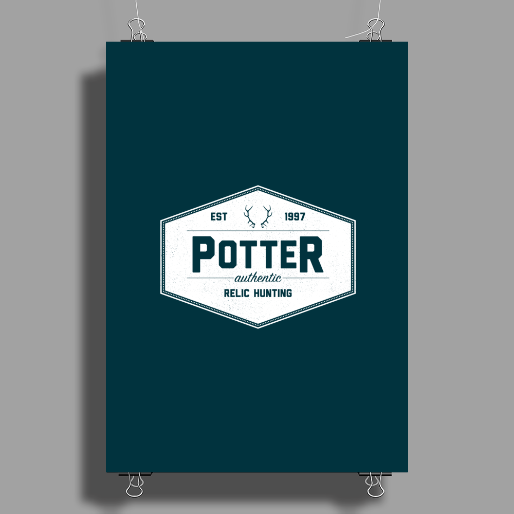 Potter Authentic Relic Hunting Poster Print (Portrait)